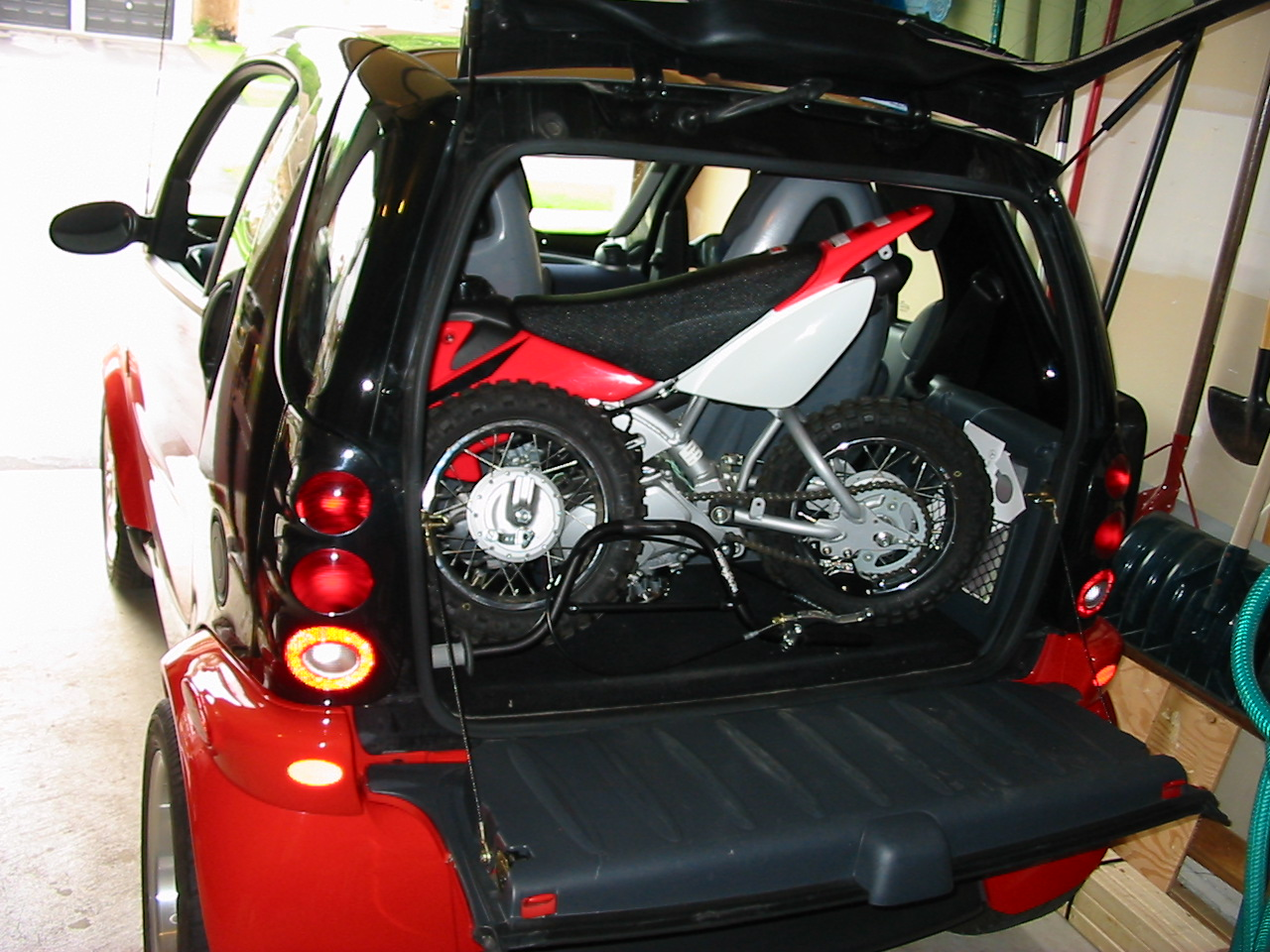 Can You Fit A Dirt Bike Into A Smart Car General Discussions