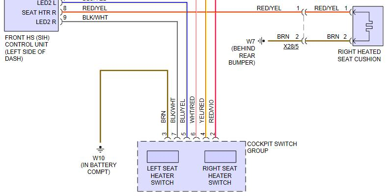 Heated Seat Wiring And Control