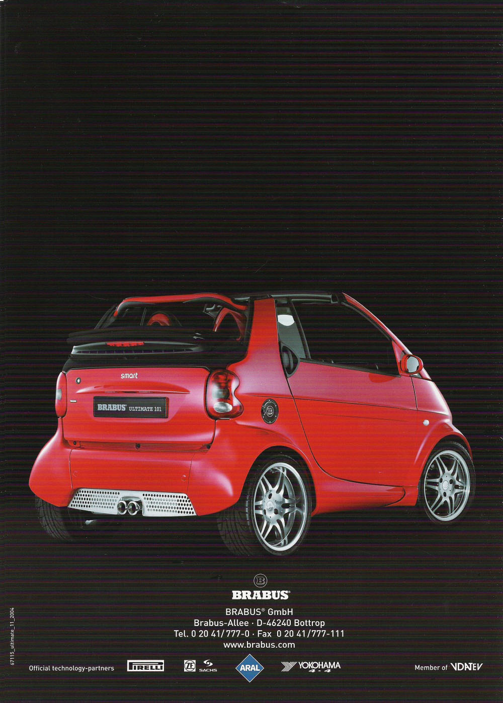 smart brabus ultimate 101 brochure general discussions club smart car. Black Bedroom Furniture Sets. Home Design Ideas